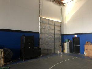 bay door in gym