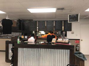 cafe menu and checkout