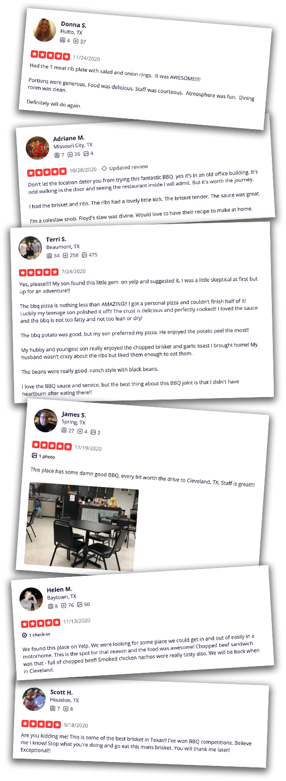 yelp reviews for fat floyds smokehouse